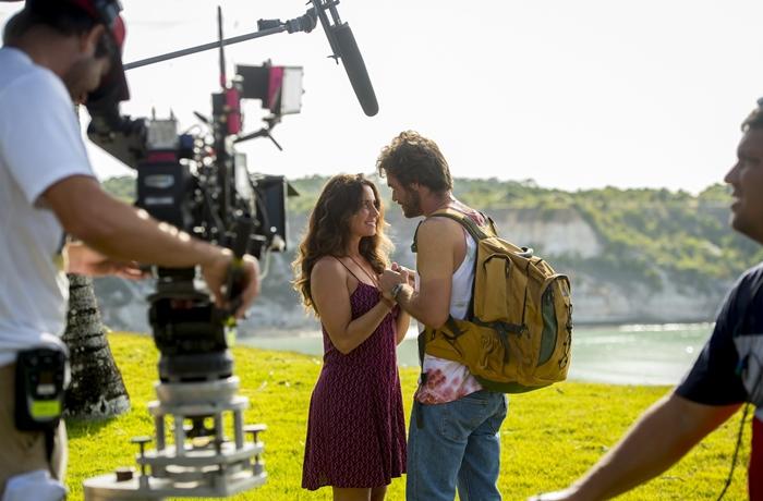Giovanna Antonelli (Luzia) e Emílio Dantas (Beto) gravam cena de Segundo Sol (Foto: João Cotta/ Globo)
