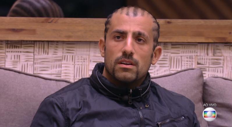 O brother Kaysar Dadour durante o BBB18 (Foto: Reprodução/Globo)