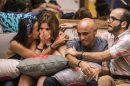 Família Lima (Ana Clara e Ayrton) entre Gleice e Mahmoud (Foto: Reprodução)