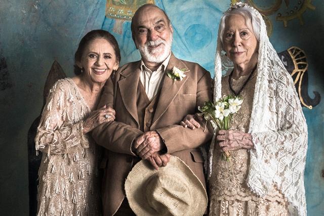Caetana (Laura Cardoso), Josafá (Lima Duarte) e Mercedes (Fernanda Montenegro) em O Outro Lado do Paraíso (Foto: Globo/Raquel Cunha)
