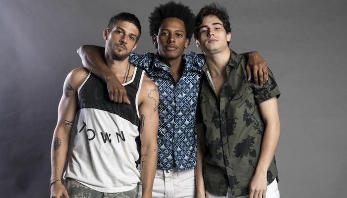 Chay Suede, Danilo Ferreira e Danilo Mesquita estarão em Segundo Sol (Foto: Globo/João Miguel Júnior)