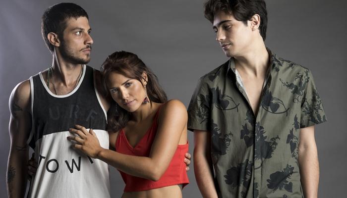 Ícaro (Chay Suede), Rosa (Leticia Colin) e Valentim (Danilo Mesquita) (Foto: Globo/João Miguel Júnior)