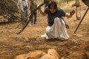 Maria (Alice Wegmann) em cena que encontra corpo em Onde Nascem os Fortes (Foto: Globo/Estevam Avellar)