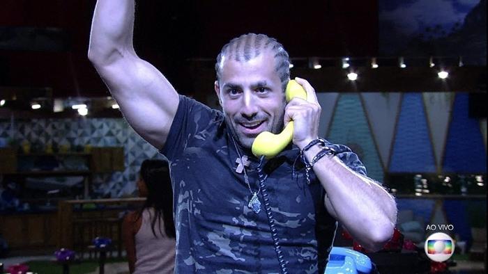 O brother Kaysar Dadour, vencedor da última Prova do Líder do BBB18 (Foto: Reprodução/Globo)