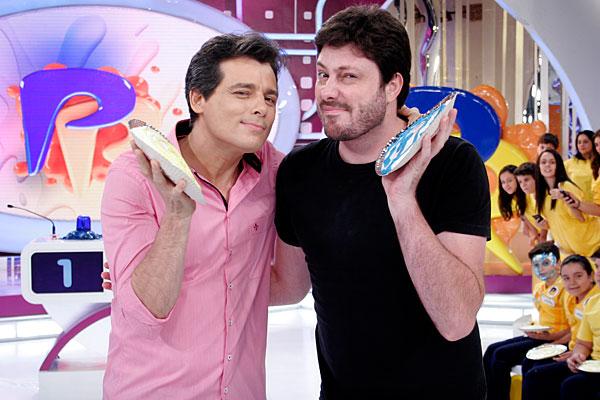 Danilo Gentili já levou tortada no Passa ou Repassa (Foto: Divulgação)