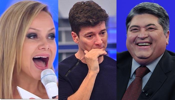 Rodrigo Faro, Eliana e Datena disputaram audiência (Foto montagem: TV Foco)