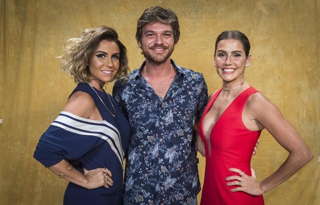 Giovanna Antonelli, Emílio Dantas e Deborah Secco (Foto: Globo/João Cotta)