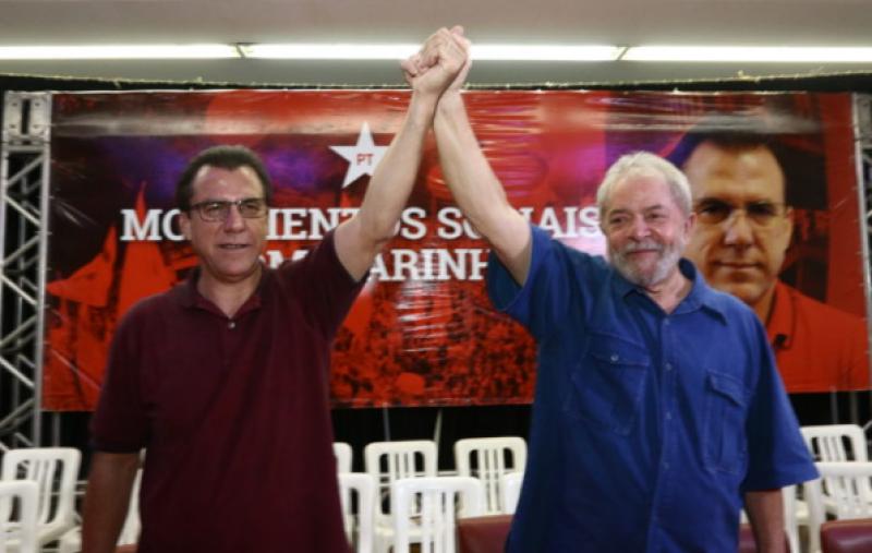 """Noticias Lider. Foto do site da O TV Foco que mostra Líder petista promete radicalizar contra a Globo: """"Precisa ser visitada"""""""