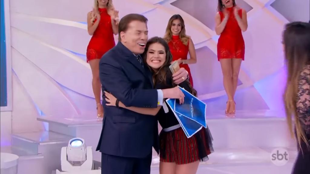 Silvio Santos e Maisa Silva. (Foto: Reprodução/SBT)