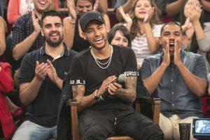 O jogador Neymar no Altas Horas (Foto: Rogério Fernandes/TV Globo)