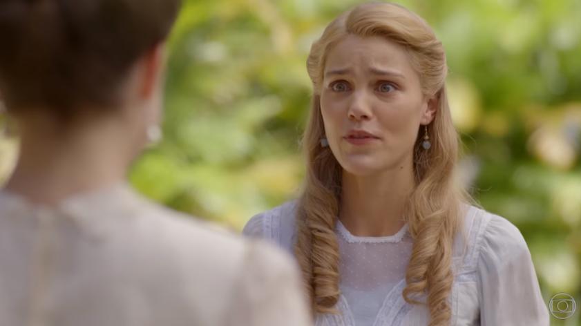 Jane é pedida em casamento na novela Orgulho e Paixão. (Foto: Reprodução/TV Globo)