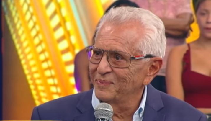 Carlos Alberto de Nóbrega durante sua participação no Hora do Faro. (Foto: Reprodução/RecordTV)