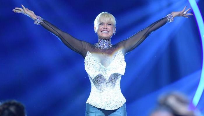 Xuxa na final da terceira temporada do Dancing Brasil (Foto: Blad Meneghel)