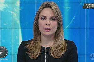 A jornalista Rachel Sheherazade no comando do SBT Brasil (Foto: Reprodução/SBT)