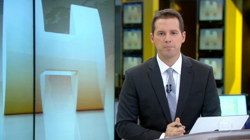 O apresentador Dony de Nuccio no Jornal Hoje (Foto: Reprodução/Globo)
