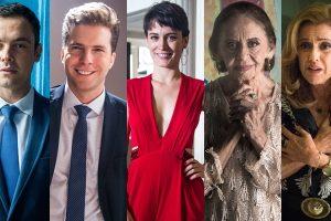 Gael, Patrick, Clara, Caetana e Sophia em O Outro Lado do Paraíso (Fotos: Raquel Cunha/Globo/Montagem)