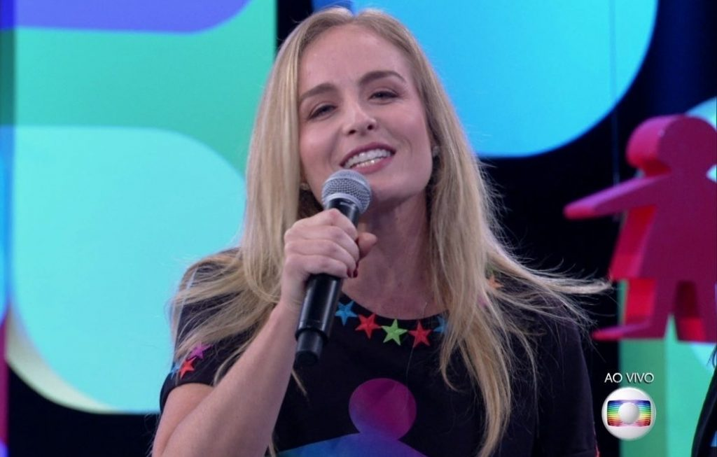 Angélica na Globo (Foto: Reprodução)