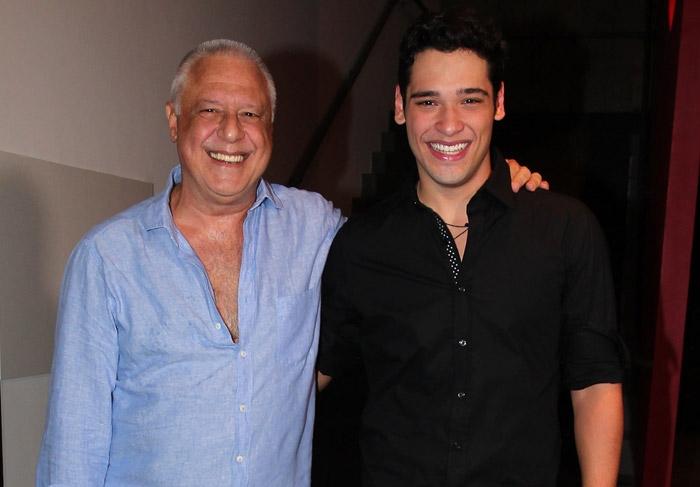 Antônio Fagundes e o filho (Foto: Reprodução)