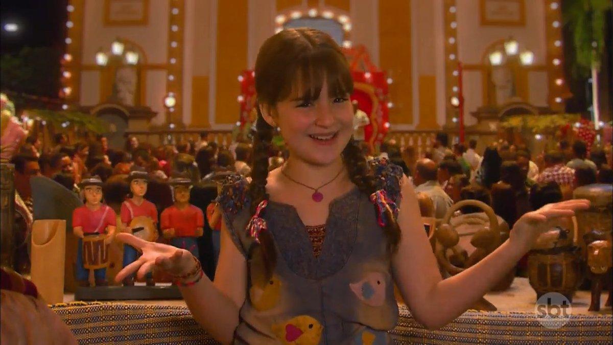 Poliana (Sophia Valverde) em As Aventuras de Poliana (Foto: Reprodução/SBT)