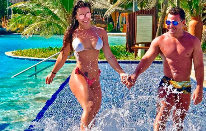 Eduardo Costa com a bailarina Victoria Villarim (Foto: Divulgação)