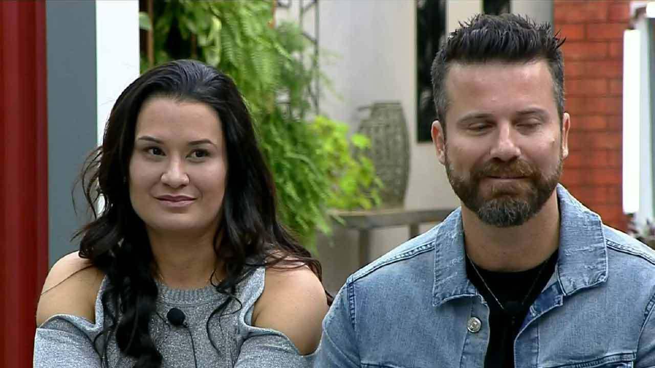 Marlon e Letícia Oliveira no Power Couple (Foto: Reprodução) cantor
