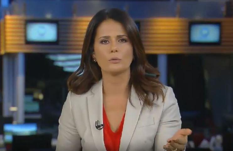 Adriana Araújo comandou o Cidade Alerta em forma de plantão neste sábado (Foto: Reprodução)