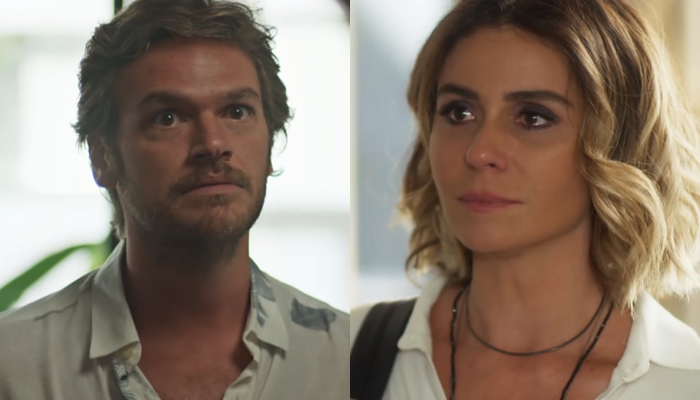 Beto (Emilio Dantas) e Luzia (Giovanna Antonelli) em cenas de Segundo Sol (Fotos: Reprodução/Globo)