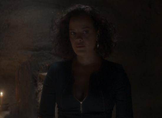 Joana(Maeve Jinkings) em cena de Onde Nascem os Fortes (Foto: Reprodução/Globo)