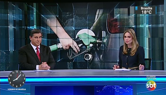 Carlos Nascimento e Rachel Sheherazade no SBT Brasil (Foto: Reprodução/SBT)