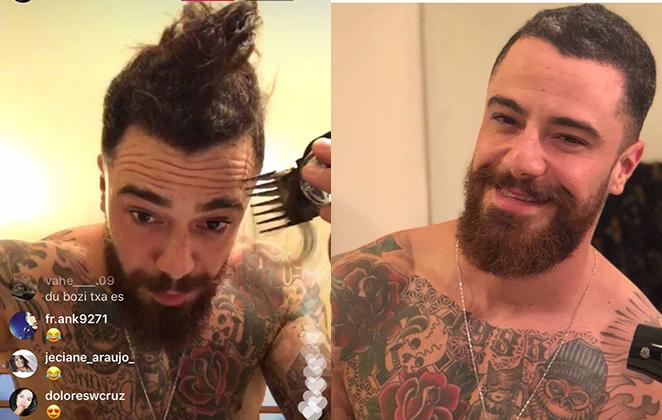 Antes e depois de Felipe Titto (Foto: Reprodução)
