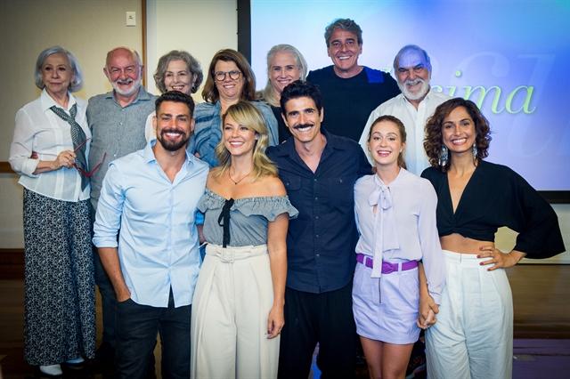 Elenco de Belíssima se reencontra para coletiva de lançamento de reprise (Foto: Globo/Raquel Cunha)
