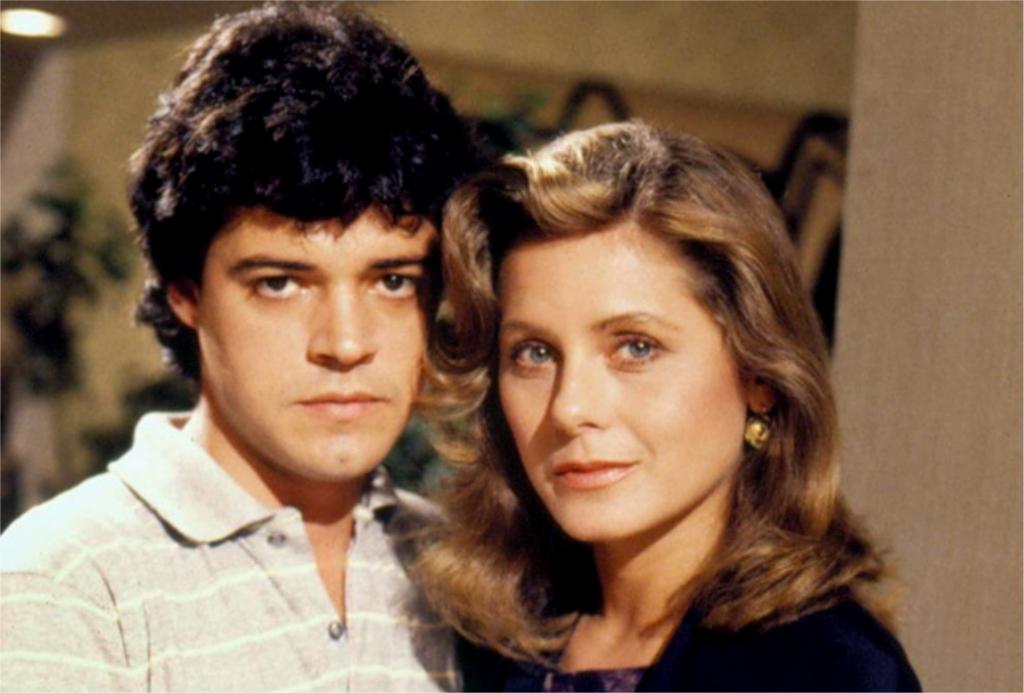 Felipe Camargo e Vera Fischer na novela Mandala de 1987 (Foto memória Globo)