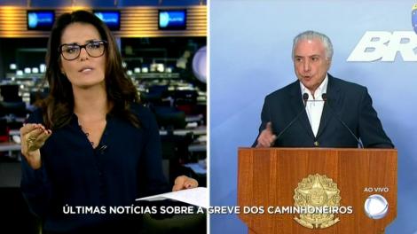 Adriana Araújo fez uma verdadeira maratona jornalística no domingo da emissora (Foto: Reprodução/Record)