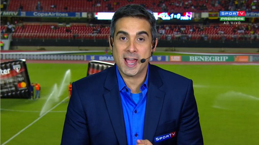 Gustavo Villani já fez sua estreia pelo SporTV (Foto: Reprodução)
