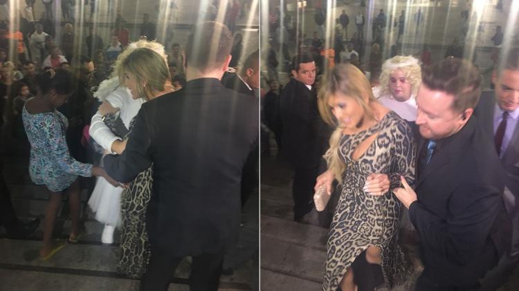 Lívia Andrade causa tumulto em casamento de Lexa e Guimê na Catedral da Sé, em São Paulo Imagem: Montagem/Gisele