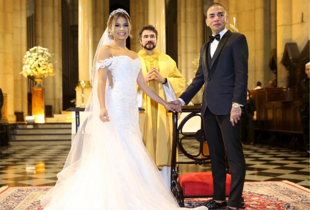 MC Guimê se emocionou em casamento com Lexa que foi feita pelo Padre Fábio de Mello (Foto Manoela Scarpa/ Brazil News)