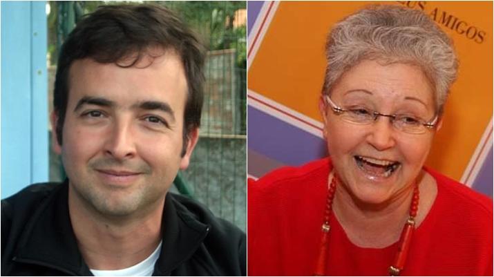 Rodrigo Amaral trabalha com a mãe, Maria Adelaida Amaral, na Globo. (Foto: Montagem/Divulgação)