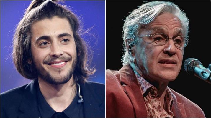 Salvador Sobral cantará com Caetano Veloso no Eurovision. (Foto: Montagem/Divulgação)