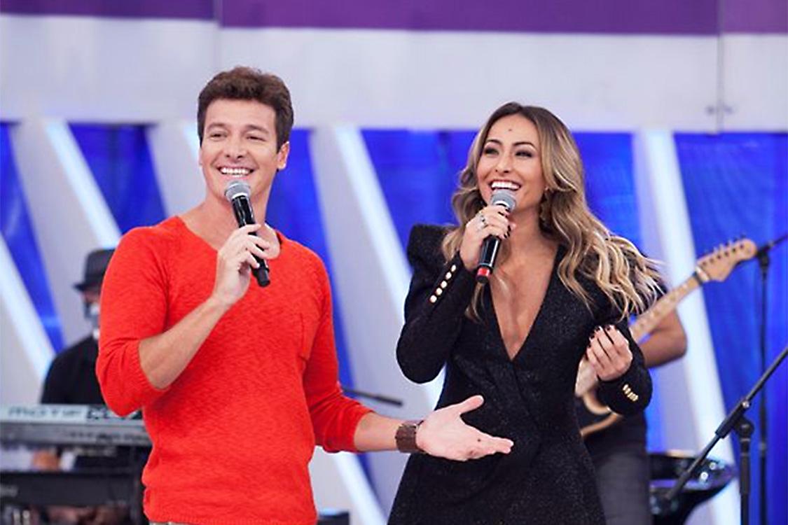 Os apresentadores Rodrigo Faro e Sabrina Sato (Foto: Reprodução)