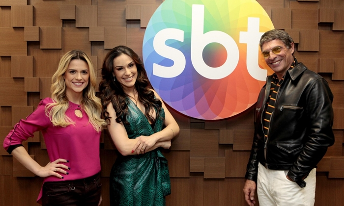 Beca Milano, Nadja Haddad e Olivier (Foto: Lourival Ribeiro/SBT)