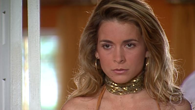 Cláudia Abreu (Laura) em cena de Celebridade (Foto: Reprodução/Globo)
