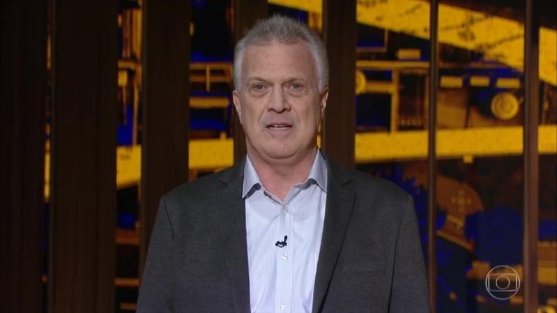 Pedro Bial no comando de seu talk show na Globo (Foto: Reprodução/Globo)