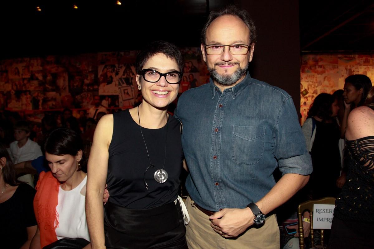 Sandra Annenberg e o marido, Ernesto Paglia (Foto: Marcos Ribas / Foto Rio