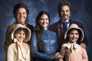 A família Machado de O Tempo Não Para, próxima novela das sete da Globo (Foto: Globo/João Miguel Júnior)
