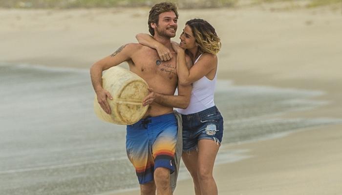 Beto (Emilio Dantas) e Luzia (Giovanna Antonelli) em Segundo Sol (Foto: Globo/João Cotta)