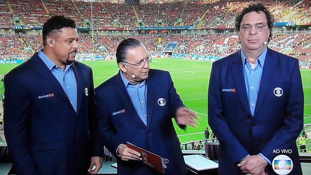 Galvão Bueno e Walter Casagrande em transmissão da Copa da Rússia (Foto: Reprodução/Globo)