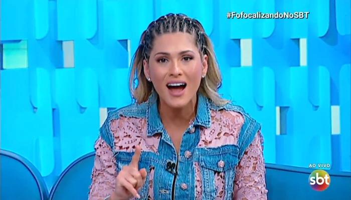 Lívia Andrade durante o Fofocalizando (Foto: Reprodução/SBT)