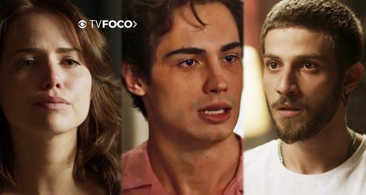 Rosa, Valentim e Ícaro em Segundo Sol (Foto: Montagem/TV Foco)