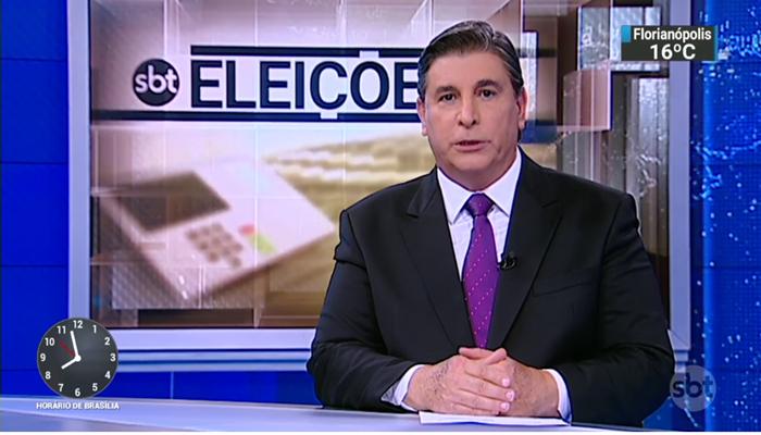 O apresentador Carlos Nascimento no SBT Brasil (Foto: Reprodução/SBT)