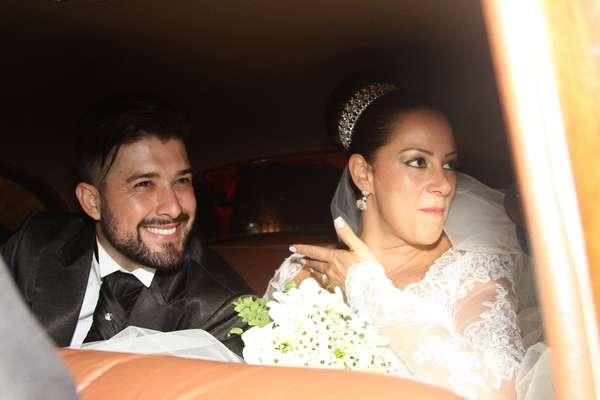 Silvia e o ex-marido (Foto: Divulgação)